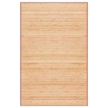 Preproga iz bambusa 100x160 cm rjava