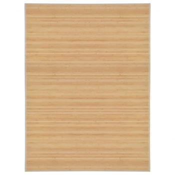 Preproga iz bambusa 150x200 cm naravne barve