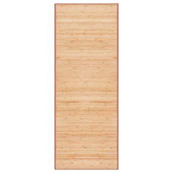 Preproga iz bambusa 80x200 cm rjave barve