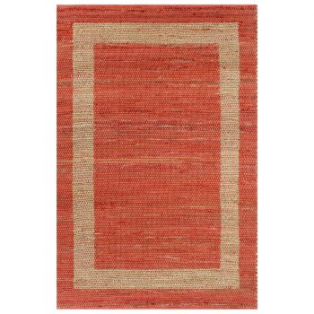 Preproga iz jute ročno izdelana rdeča 160x230 cm