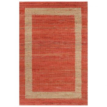 Preproga iz jute ročno izdelana rdeča 80x160 cm