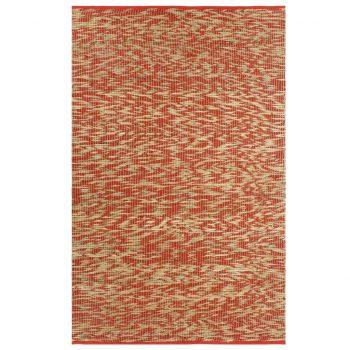 Preproga iz jute ročno izdelana rdeča in naravna 160x230 cm