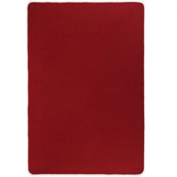Preproga iz jute s podlogo iz lateksa 120x180 cm rdeča