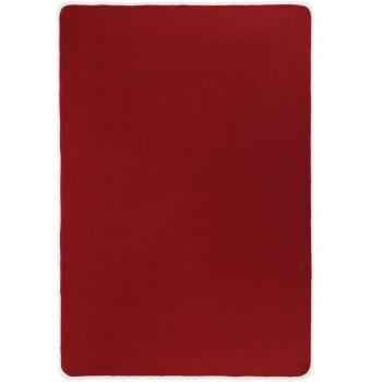 Preproga iz jute s podlogo iz lateksa 140x200 cm rdeča