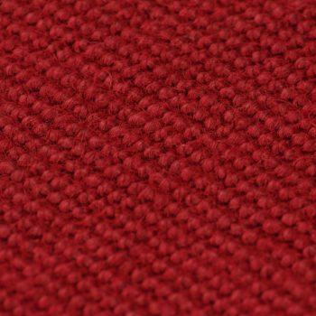 Preproga iz jute s podlogo iz lateksa 70x130 cm rdeča