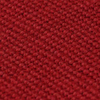 Preproga iz jute s podlogo iz lateksa 80x160 cm rdeča