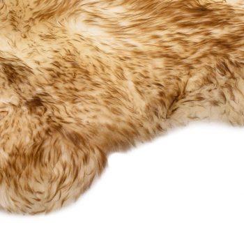 Preproga iz ovčje kože 60x90 cm rjava mešana