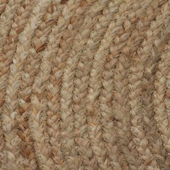 Preproga iz pletene jute 120 cm okrogla