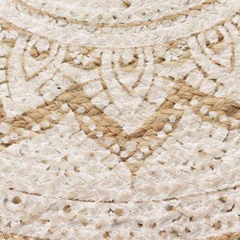 Preproga iz pletene jute potiskana 90 cm okrogla