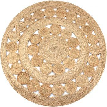 Preproga pletena iz jute 120 cm okrogla
