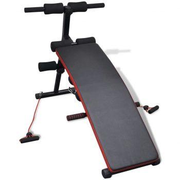 Prilagodljiva večfunkcijska vadbena klop s 3 kg utežmi