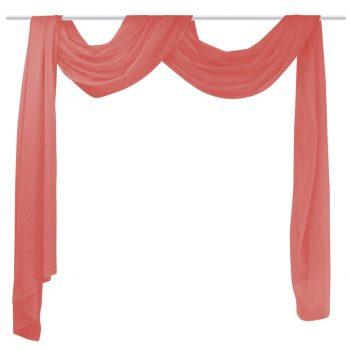 Prosojna zavesa 140x600 cm rdeče barve