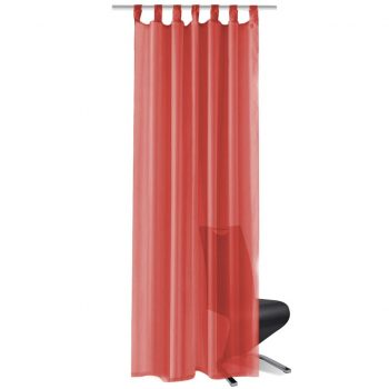 Prosojne zavese 2 kosa 140x225 cm rdeče barve