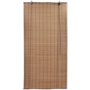Rolo senčilo iz bambusa 100x220 cm rjave barve