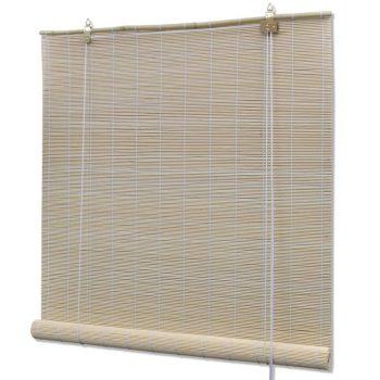 Rolo senčilo iz bambusa 140x220 cm naravne barve