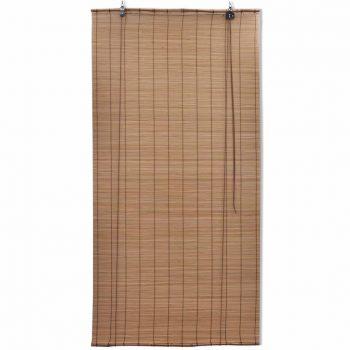Rolo senčilo iz bambusa 140x220 cm rjave barve