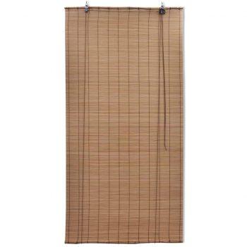 Rolo senčilo iz bambusa 150x160 cm rjave barve
