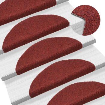 Samolepilne preproge za stopnice 15 kosov 54x16x4 cm rdeče