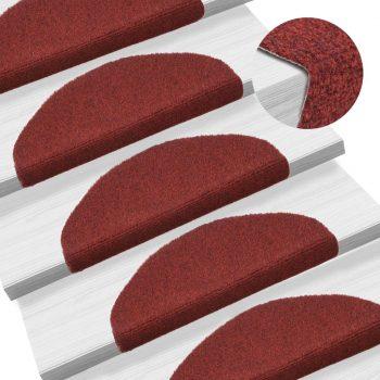 Samolepilne preproge za stopnice 15 kosov 65x21x4 cm rdeče