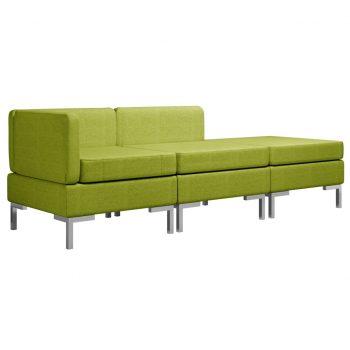 Sedežna garnitura 3-delna blago zelena