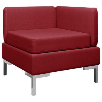 Sekcijski kotni kavč z blazino blago vinske barve