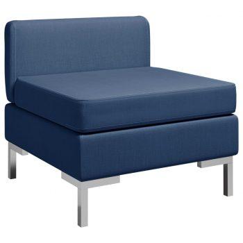 Sekcijski sredinski kavč z blazino blago moder