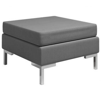 Sekcijski stolček za noge z blazino blago temno siv