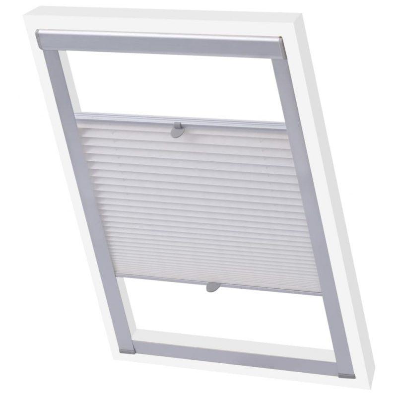 Senčilo za zatemnitev okna z naborki belo PK06