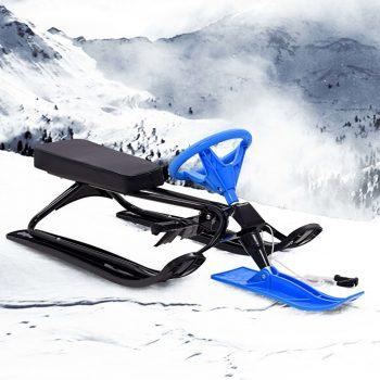 Snežne sani z volanom črne in modre