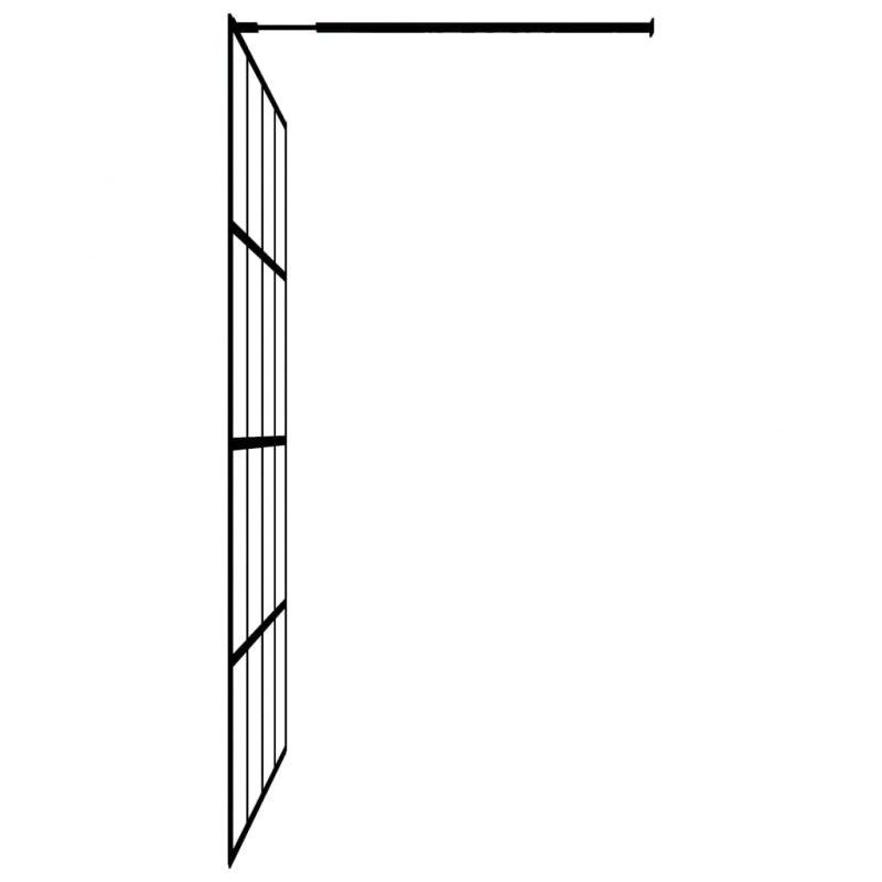 Steklena pregrada za tuš kaljeno steklo 118x190 cm