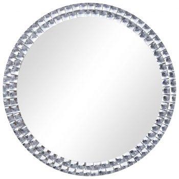 Stensko ogledalo srebrno 70 cm kaljeno steklo