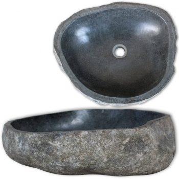 Umivalnik iz rečnega kamna ovalen 38-45 cm