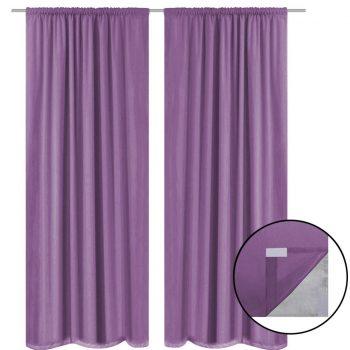 Zatemnitvene zavese 2 kosa dvoslojne 140x245 cm lila barve