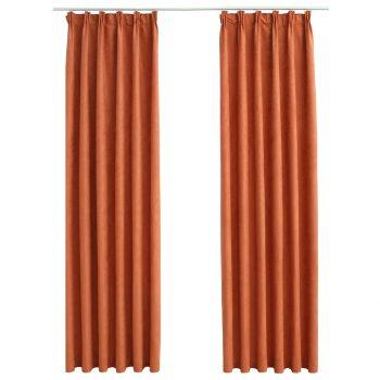 Zatemnitvene zavese z obešali 2 kosa rjaste 140x245 cm