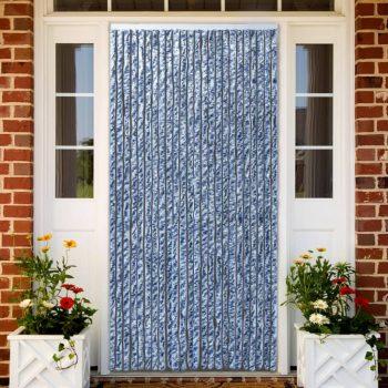 Zavesa proti mrčesu iz šenilje 100x220 cm modra