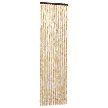 Zavesa proti mrčesu iz šenilje 56x185 cm bež