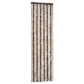 Zavesa proti mrčesu iz šenilje 56x185 cm bež in svetlo rjava
