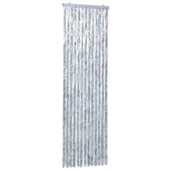 Zavesa proti mrčesu iz šenilje 56x185 cm bela in siva