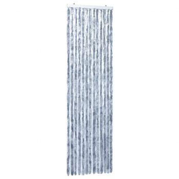 Zavesa proti mrčesu iz šenilje 56x185 cm srebrna