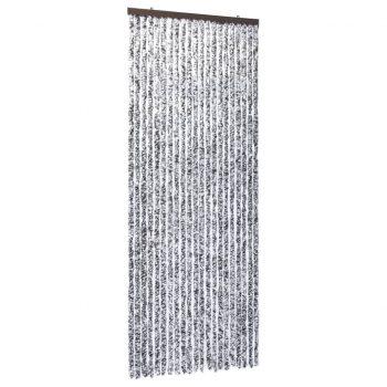 Zavesa proti mrčesu iz šenilje 90x220 cm rjava in bež