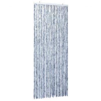 Zavesa proti mrčesu iz šenilje 90x220 cm srebrna
