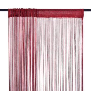Zavese iz nitk 2 kosa 100x250 cm bordo barve