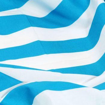 Zavese s kovinskimi obročki 2 kosa blago 140x175 cm modre črte