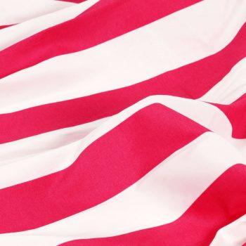 Zavese s kovinskimi obročki 2 kosa blago 140x175 cm roza črte