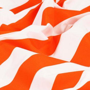 Zavese s kovinskimi obročki 2 kosa blago 140x245cm oranžne črte