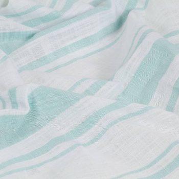 Zavese s kovinskimi obročki 2 kosa bombaž 140x175 cm modre črte