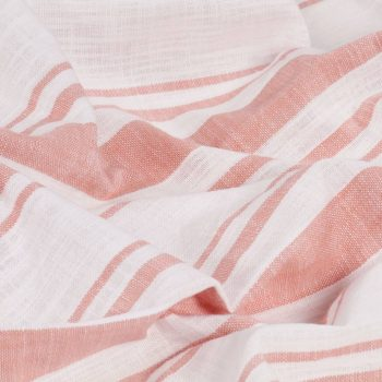 Zavese s kovinskimi obročki 2 kosa bombaž 140x225 cm roza črte