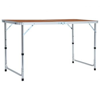 Zložljiva miza za kampiranje iz aluminija 120x60 cm