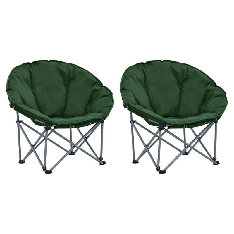 Zložljivi okrogli stoli 2 kosa zeleni