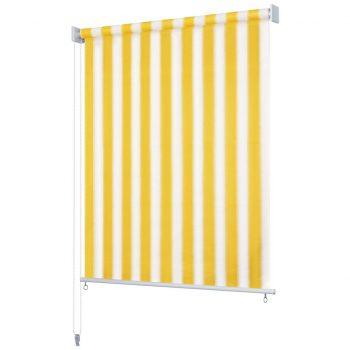 Zunanje rolo senčilo 100x140 cm rumene in bele črte
